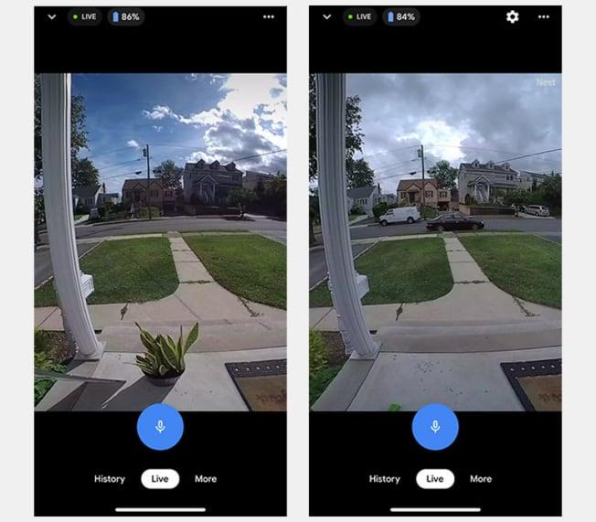 Video footage from Google Nest doorbell