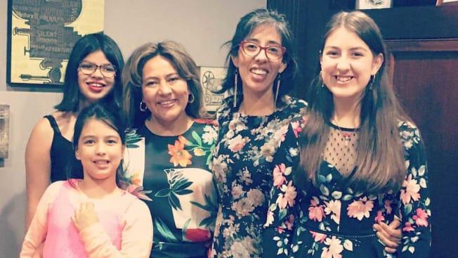 Three generations of the Mendoza family