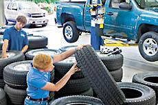 men with tires