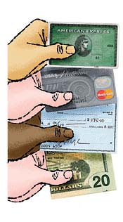 credit cards - which way to pay