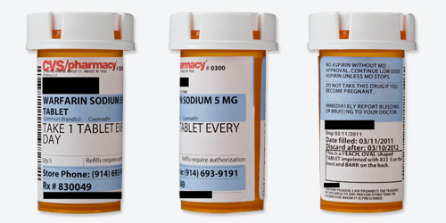 A closer look at prescription bottle labels