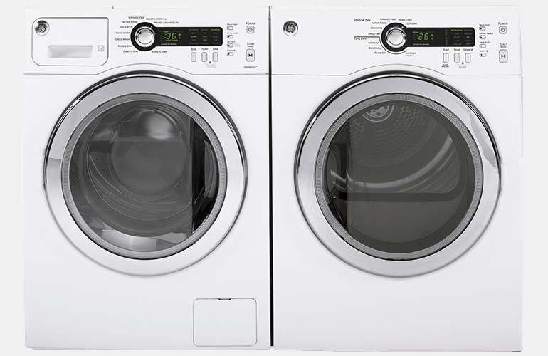 GE compact washer and dryer set.