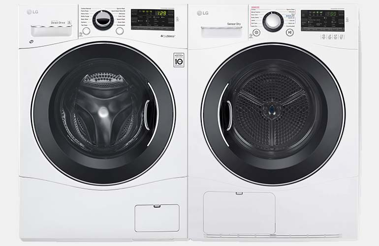 LG compact washer and dryer set.
