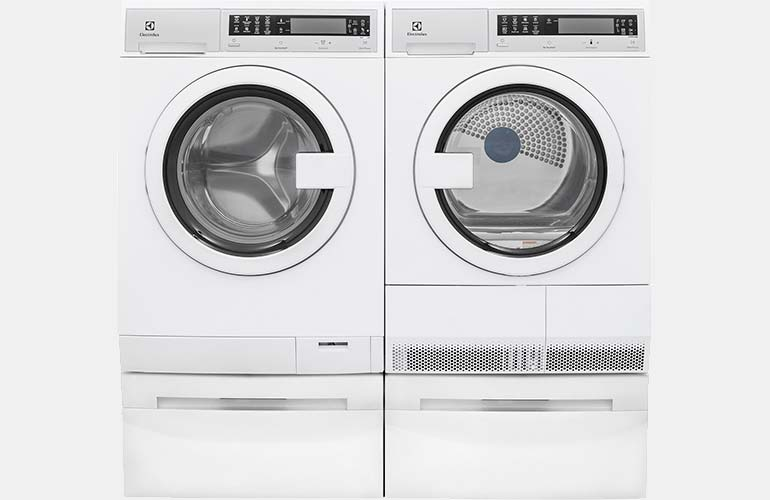 Electrolux compact washer and dryer set.