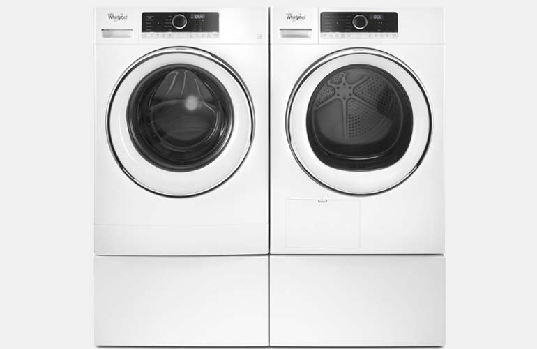 Whirlpool compact washer and dryer set.