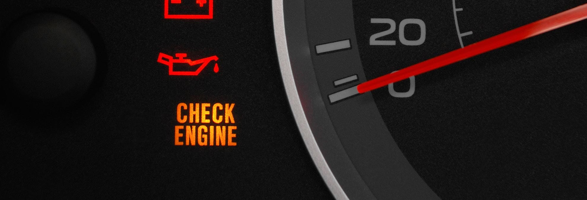 Car Showing Check Engine Sign