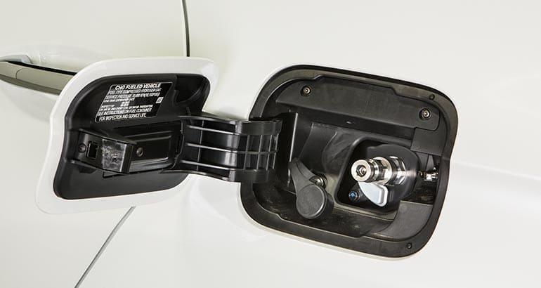 Hydrogen Fuel Filling Throat On 2017 Honda Clarity Fcv
