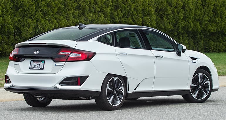 Rear View Of 2017 Honda Clarity Fcv