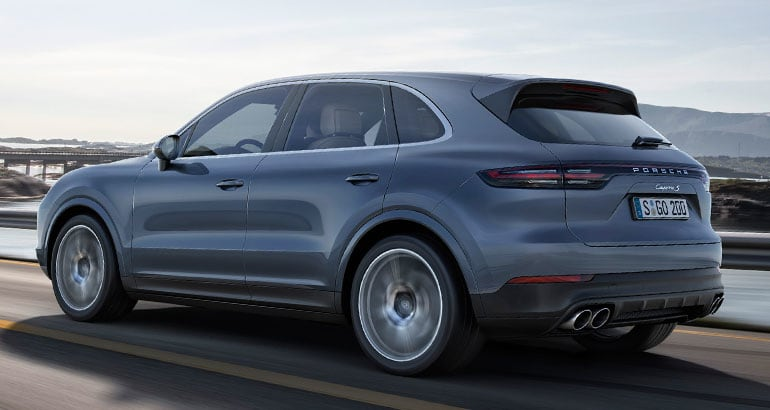 New 2019 Porsche Cayenne rear