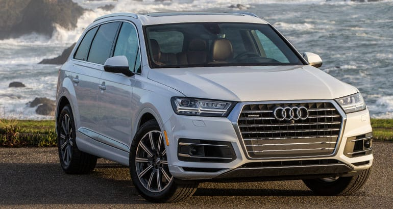 The Audi Q7 is one of the best-riding SUVs.