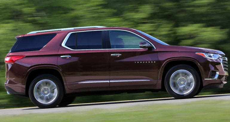 The Chevrolet Traverse is one of the best-riding SUVs.
