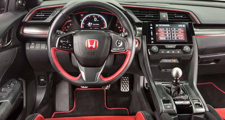 2018 Honda Civic Type R Interior.