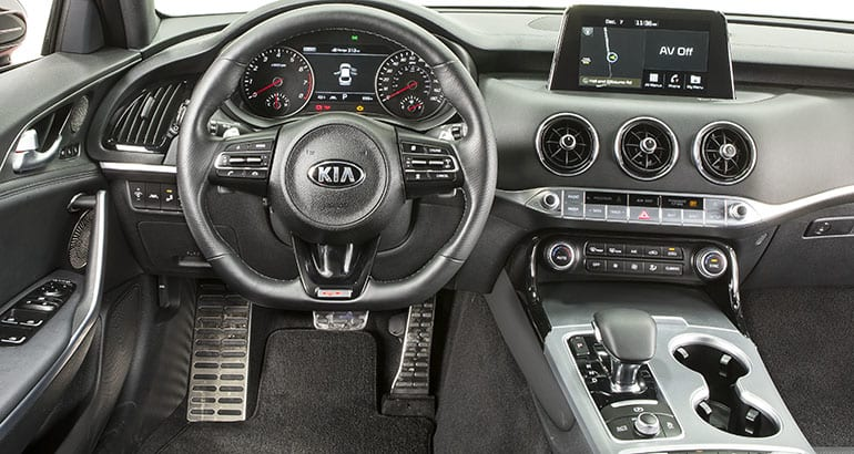 2018 kia stinger challenges the sport sedan establishment. Black Bedroom Furniture Sets. Home Design Ideas