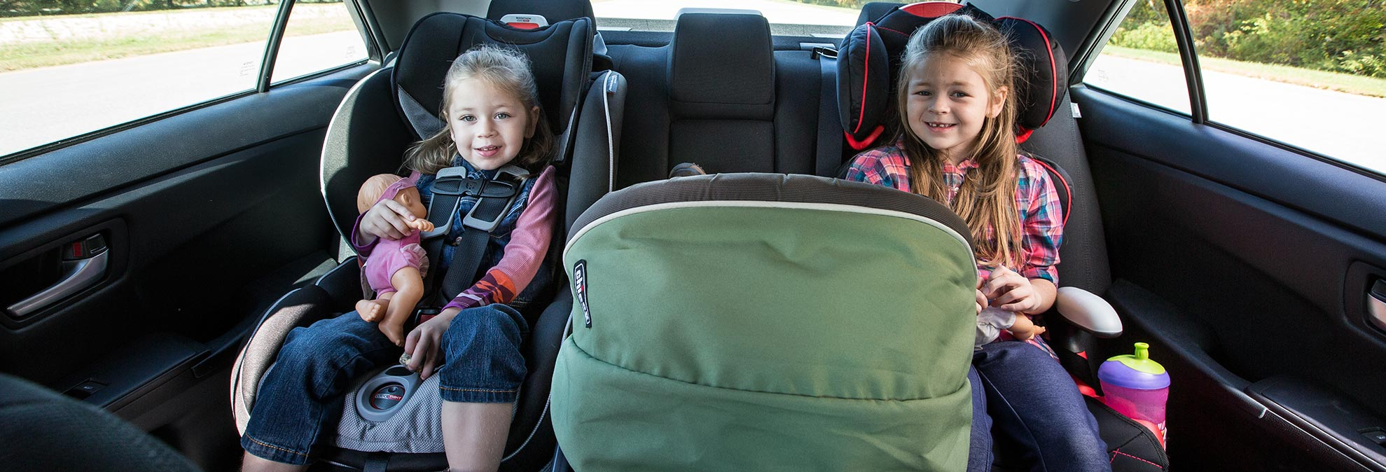 Best Newborn Car Seat >> How to Fit Car Seats Three Across - Consumer Reports