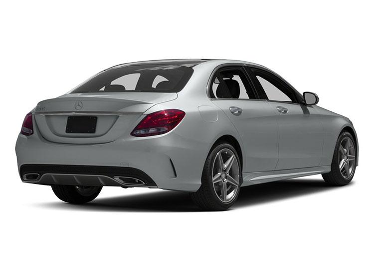 2017 Bmw 330 Rear Angle Mercedes Benz