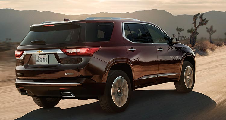 2018 chevrolet vehicles. beautiful 2018 2018 chevrolet traverse suv rear inside chevrolet vehicles n