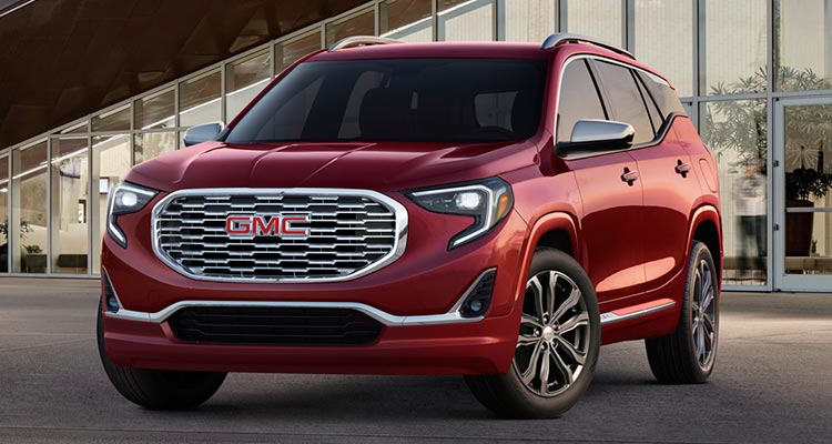 A 2018 GMC Terrain affected by a recall