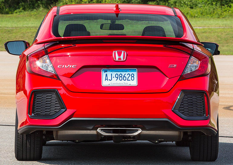 2017 Honda Civic Si Rear