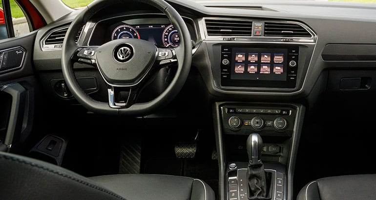 Interior of 2018 Volkswagen Tiguan.