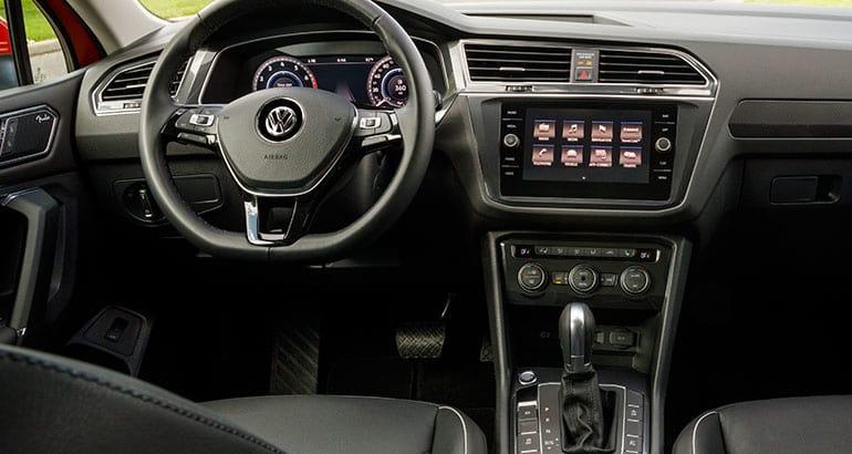 Interior of 2018 Volkswagen Tiguan.
