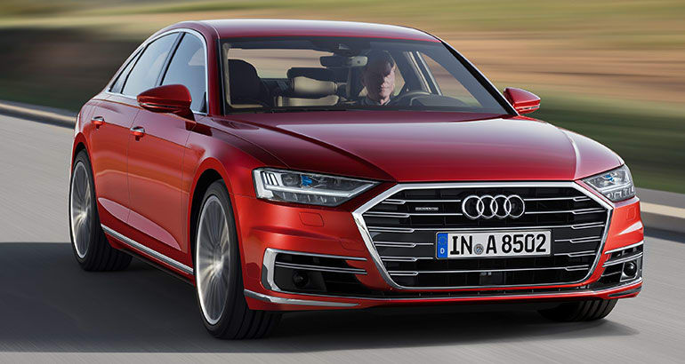 2019 Audi A8 driving front