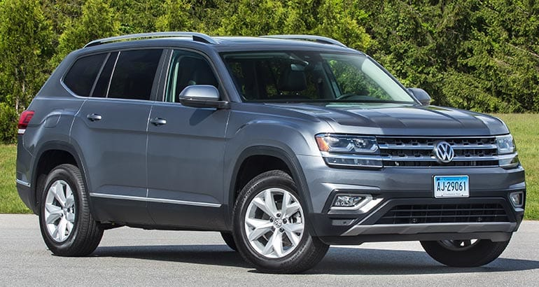 Front of the 2018 Volkswagen Atlas SUV.
