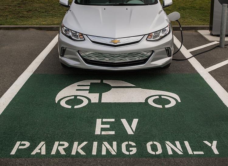 chevrolet volt parked for charging