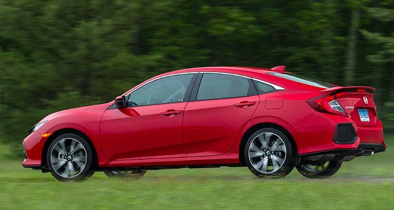 2017 Honda Civic Si Driving Rear