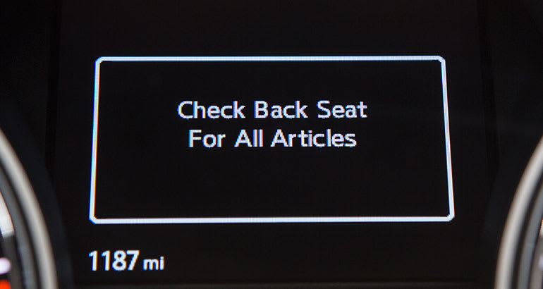 2018 Nissan Pathfinder with rear seat minder