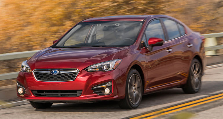 A 2017 Subaru Impreza—an example of how new cars can be less reliable than used cars.
