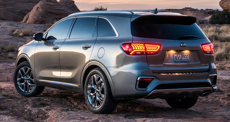 freshened 2019 kia sorento gains refinements consumer reports. Black Bedroom Furniture Sets. Home Design Ideas