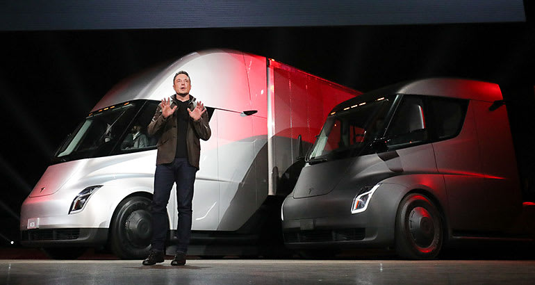 Tesla Battery Cost >> Electric Tesla Semi Truck - Consumer Reports