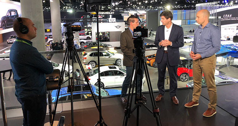 Talking Cars panelists at the 2017 LA Auto Show