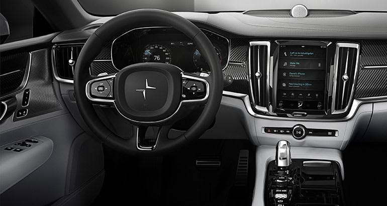 Volvo Polestar 1 electric coupe interior