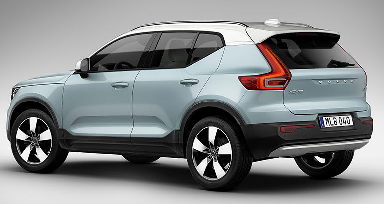 2019 Volvo XC40 SUV rear