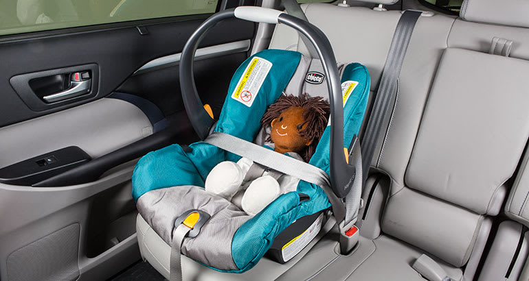 DONT Put Your Infant Seat In The Front Row Or Have It Forward Facing Rear