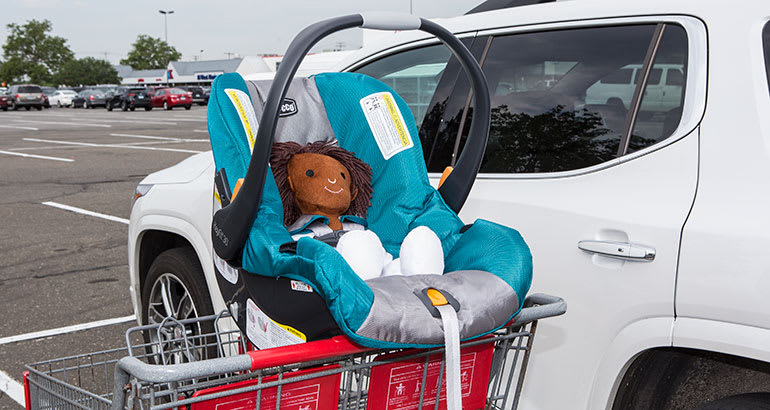 Don T Place Your Infant Seat On Top Of Grocery Cart Usually Where A Toddler Could Sit