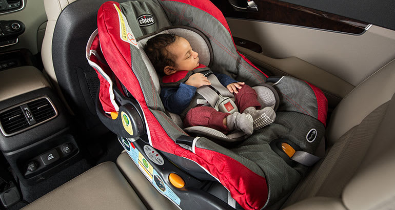 DO Keep Your Infant Seat Rear Facing In The Back Seat Of Your Car.
