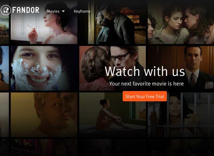 Fandor is one of the popular streaming sites.