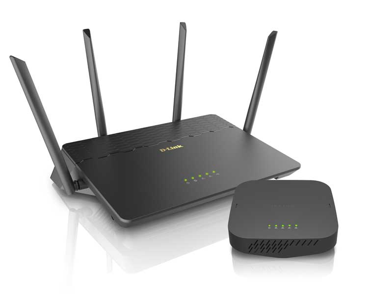 D-Link's Covr WiFi system, includes the router and extender.