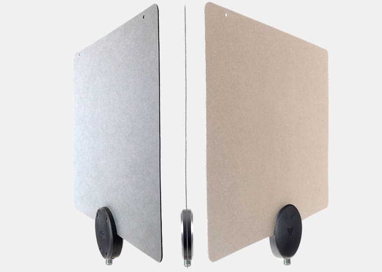 Mohu ReLeaf flat TV antennas in dark and light colors.