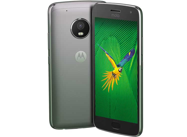 Smartphone tech on the Moto G5 Plus includes a USB-C port and expandable storage.