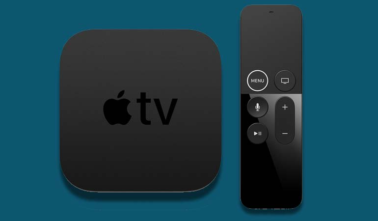Photo of new Apple TV 4K and Siri remote.