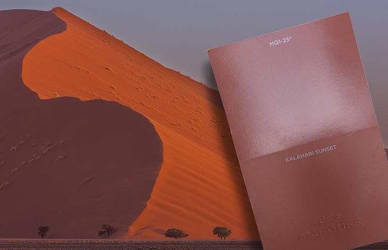 One of the new paint colors, Behr Kalahari Sunset.