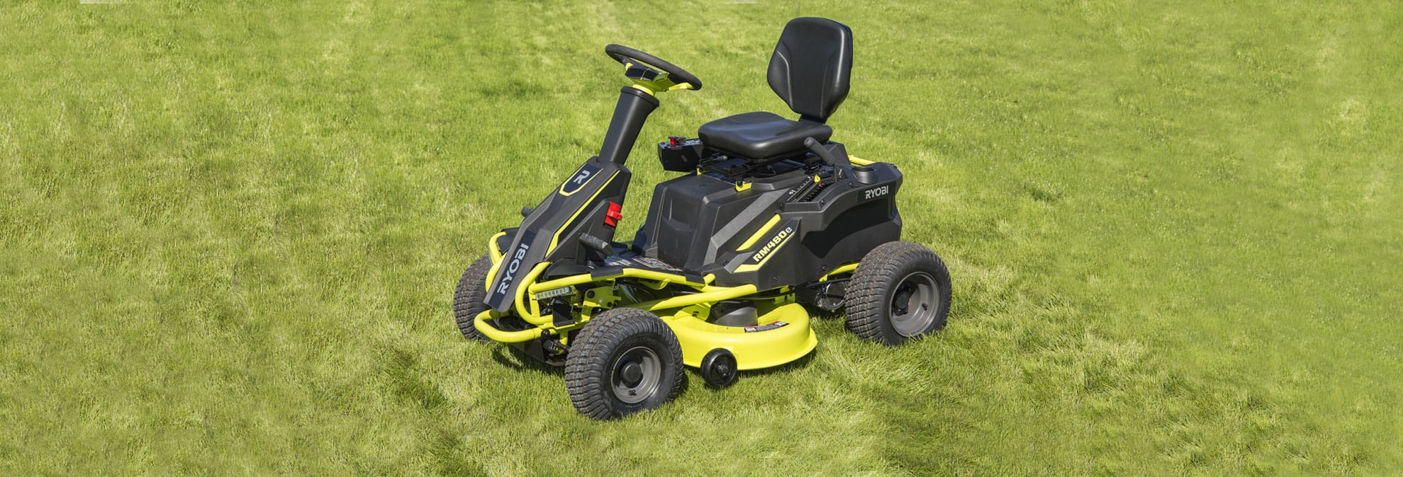 Ryobi R48110 Electric Riding Lawn Mower Review Consumer Reports John Deere A Batteriesand Wiring Harness