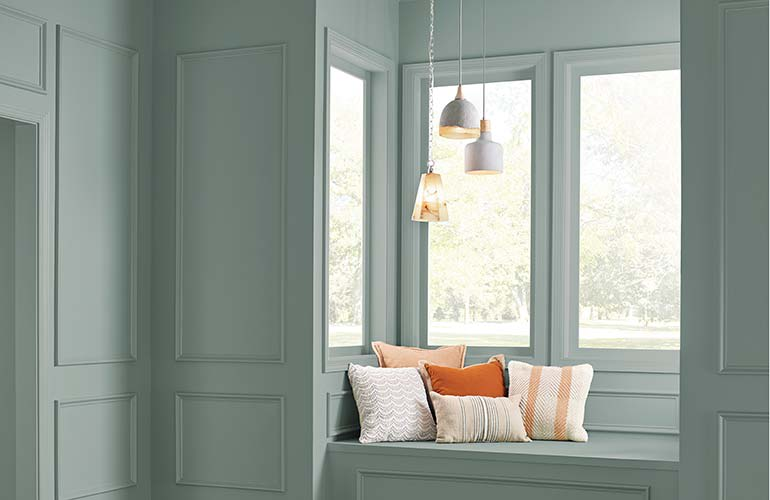 A Room Painted In Behr In The Moment T18 15 Paint