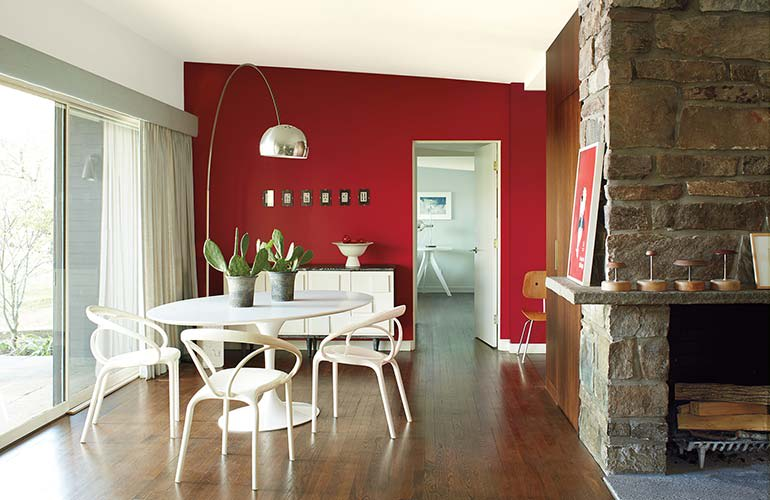A room painted in Benjamin Moore Caliente AF-290 interior paint