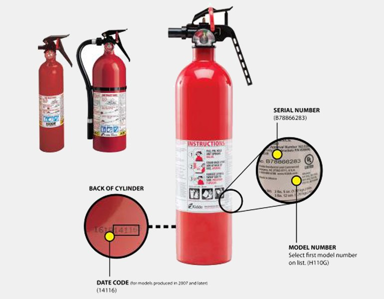 Kidde recalled fire extinguishers.