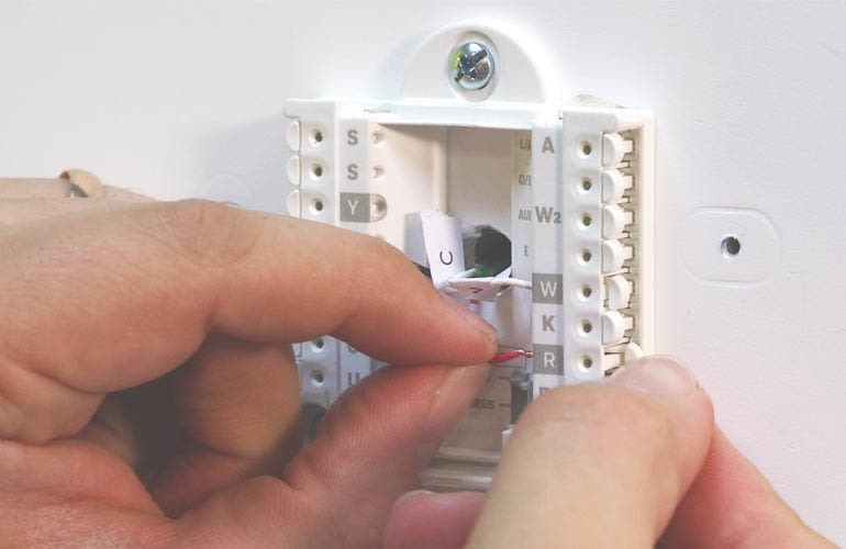 How to Install a Smart Thermostat Old Thermostat Wiring Diagram Cr Ac on