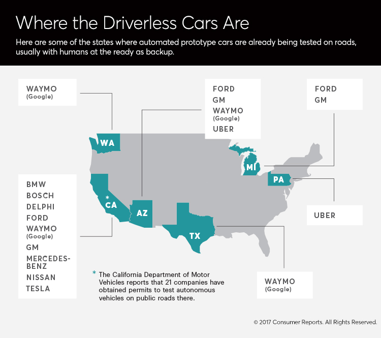 Where the driverless cars are